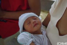 避難中に生まれた赤ちゃん、プリンセス