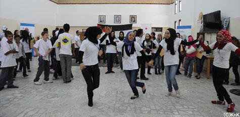 発表会の終わりはアラビアンダンスで締めくくり!