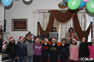 昨年のクリスマスパーティでの合唱