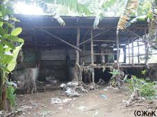被災した家屋