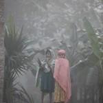 霧の中から現れた子どもたち。(ピロジュプール)