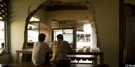 津波で半壊した家を改装してオープンされた食堂