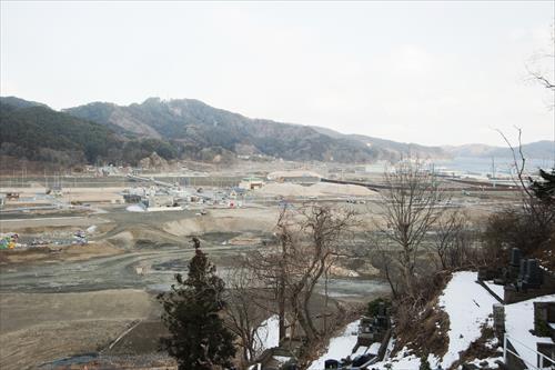 2015年2月:町の復興は始まったばかり(大槌町)