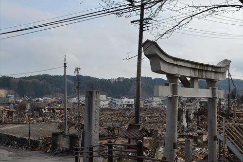 2011年4月:津波に加え火災被害も大きい(山田町)