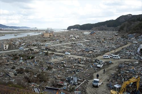 2011年3月:自然の力の前ではなすすべもなかった(陸前高田市)