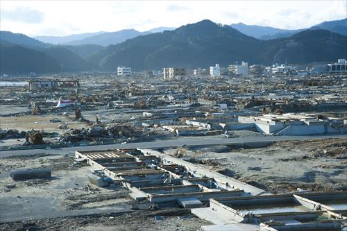 2011年3月:町全体が流された(陸前高田市)