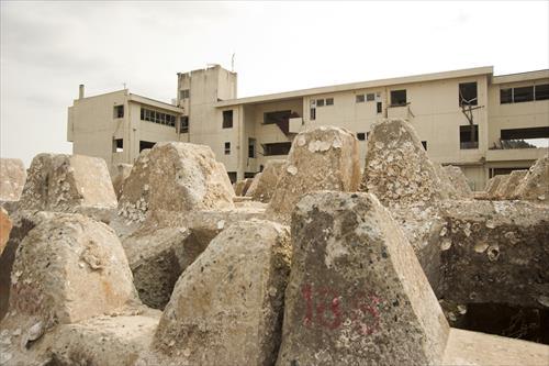 2015年2月:校舎は震災遺構として保存される(陸前高田市)