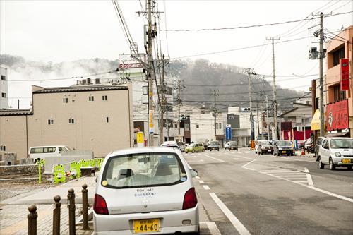 2015年2月:ホテルや飲食店もオープンし始めた(釜石市)