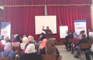 KnKによる教員研修。60人対象の講義でした。
