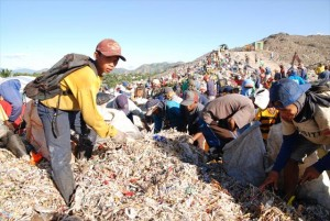 パヤタスのゴミ山で働く子ども