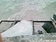 洪水で倒壊した家/Kohistan