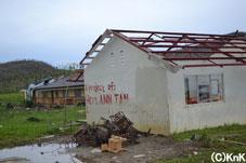 台風で被災した高校/マラブット地区