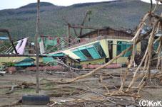 全壊した小学校/マラブット地区