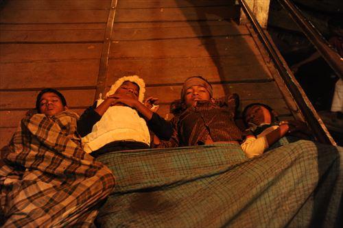 桟橋がココンたちのベッド