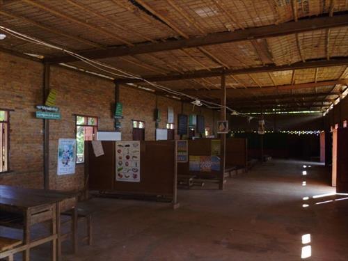 石造校舎室内(修繕前)