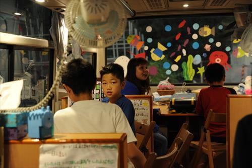 「走る! KnK子どもセンター」の子どもたち(岩手県陸前高田市/2015年8月)