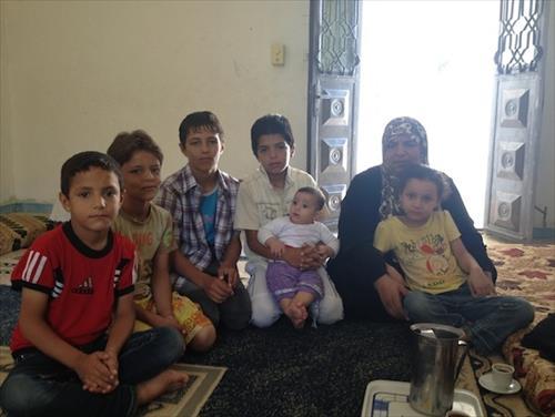 訪問したシリア人家族