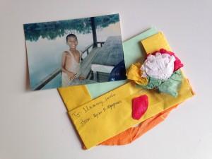 ライアンからもらった手紙と子ども時代の写真
