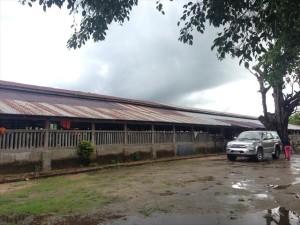 【旧校舎】Kyar Inn(ジャイン)サブ・プライマリー校/以前は校舎がなく村の僧院を間借りしていた